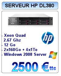Serveur Occasion HP Proliant DL380